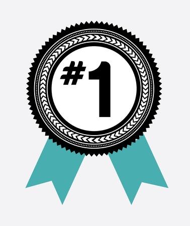 numero uno: campeones de dise�o sobre fondo blanco ilustraci�n vectorial
