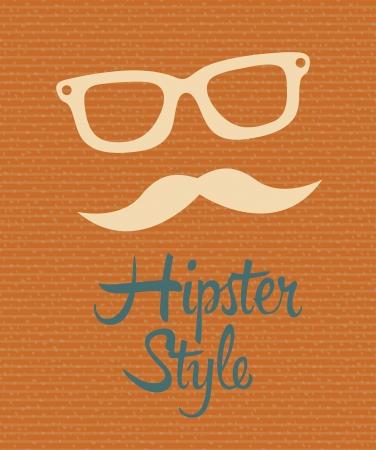 hipster design over dotted background vector  illustration