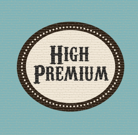 high premium label over dotted background vector illustration  illustration