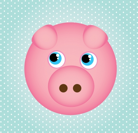 smyle: pig  icons over dotted background vector illustration Stock Photo