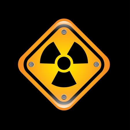 atomic signs over black background vector illustration Stock Illustration - 22169098