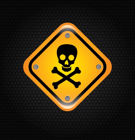 danger signal over  black background vector illustration illustration