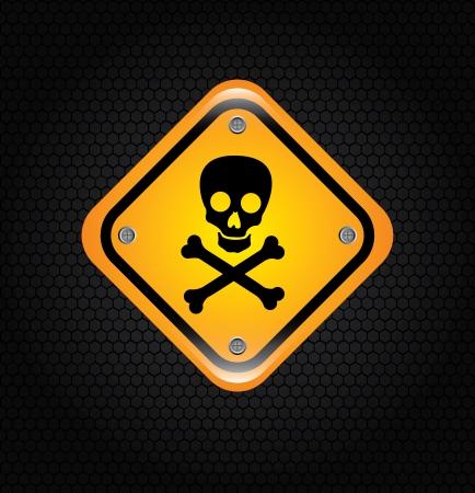 danger signal over  black background vector illustration Stock Illustration - 22169109
