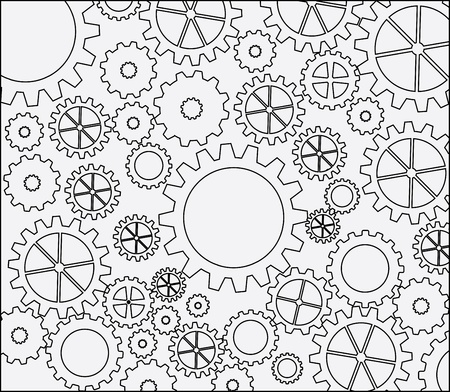 mechanical engineering: gears skin over white background vector illustration