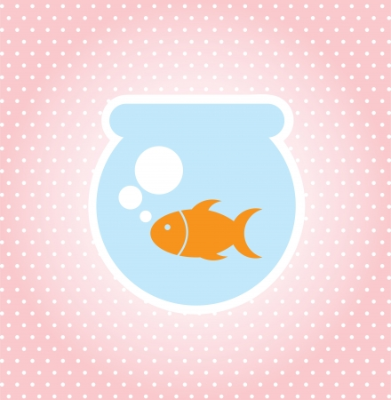 fish design over dotted background vector illustration  illustration