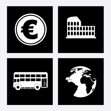 business icons over black background vector illustration illustration