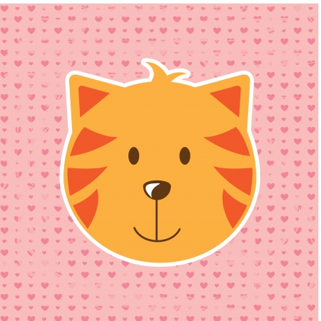 cat design over dotted background  vector illustration illustration