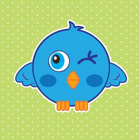 blue bird over dotted background vector illustration   illustration
