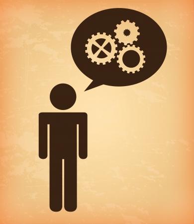 human resources over cream background vector illustration illustration