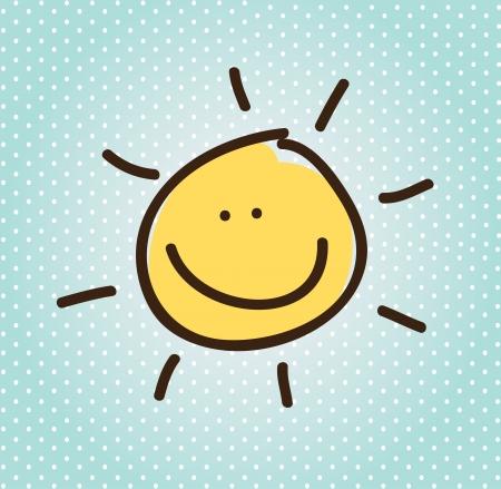 smyle: summer design over dotted background vector illustration