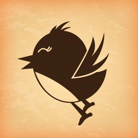 bird design over cream background vector illustration   illustration