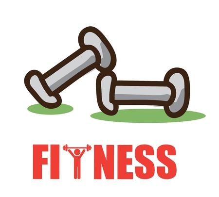 fitness design over white background vector illustration Stock Illustration - 22169194