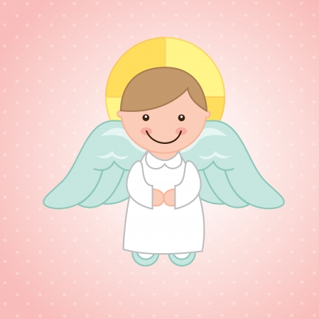 angel design over pink background vector illustration  illustration