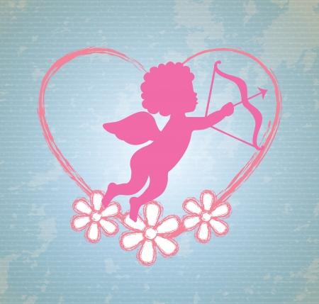 smyle: angel design over pink background vector illustration