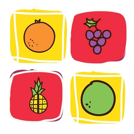 fruits icons over white background vector illustration illustration