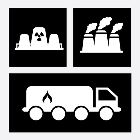 industry design over black background vector illustration Stock Illustration - 22169232
