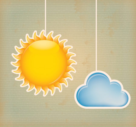 cloud icon over lineal background vector illustration  illustration