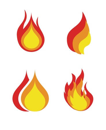flames icon over white background vector illustration  Stock Photo