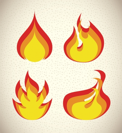 flames icon over pattern background vector illustration  illustration