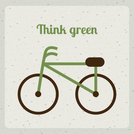 think green over beige background vector illustration  illustration