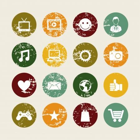 global marketing icons over beige background vector illustration   illustration
