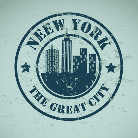 new york  design over blue background vector illustration illustration