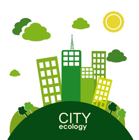 bacground: city ecology  design over landscape bacground vector illustration