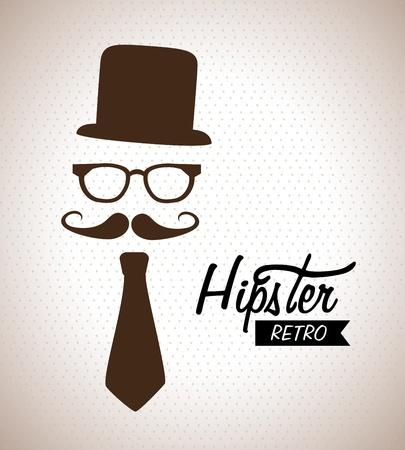 hipster design over beige background vector  illustration  illustration