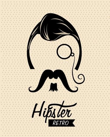hipster design over dotted background vector  illustration  illustration