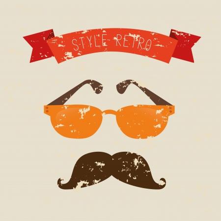 hipster design over cream background vector  illustration   illustration