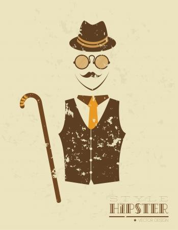 hipster design over black background vector  illustration  illustration