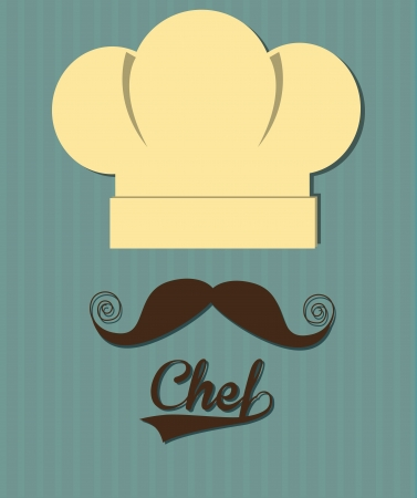 professional chef: chef design over blue background vector illustration