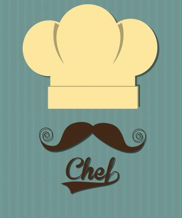 Progettazione cuoco su sfondo blu illustrazione vettoriale Archivio Fotografico - 22169416