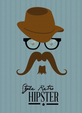 hipster design over blue background vector  illustration   illustration