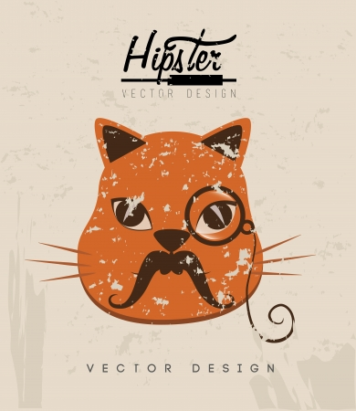 hipster design over rustic background vector  illustration   illustration