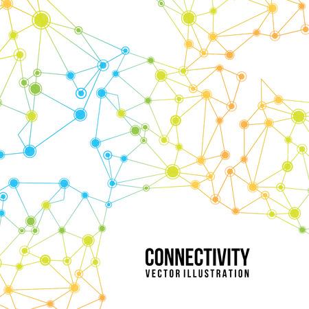白い背景のベクトル図で接続の設計  イラスト・ベクター素材