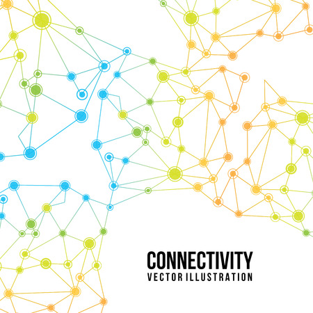 connectivity design over white  background vector illustration  Illustration