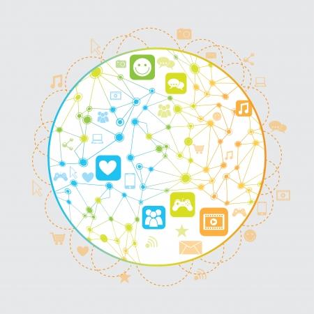 conectividade: design da conectividade sobre o fundo branco