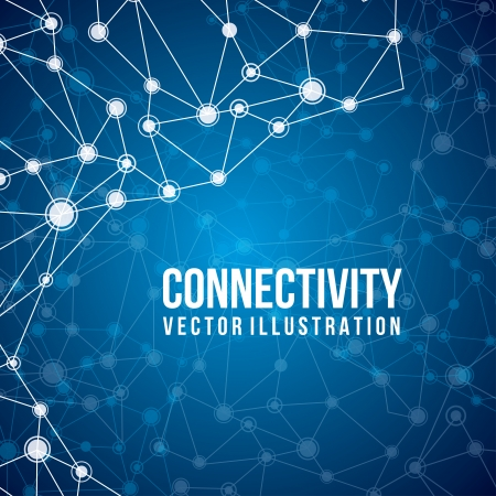 connectivity: connectivity design over blue  background  Illustration