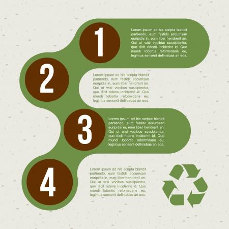 recycle: recyceln Infografiken �ber Muster Hintergrund Vektor-Illustration