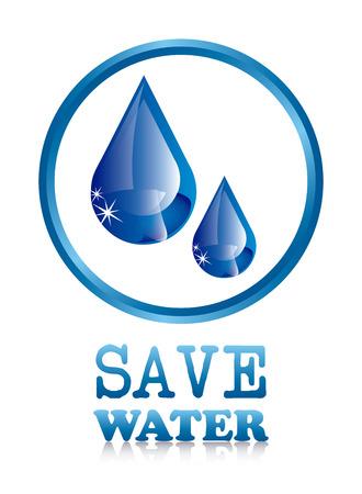 ahorrar agua: ahorrar agua sobre fondo blanco ilustraci�n vectorial Vectores
