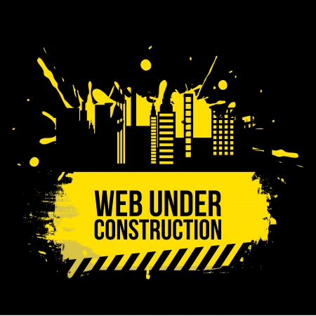 web under construction over black background vector illustration Stock Vector - 22196839