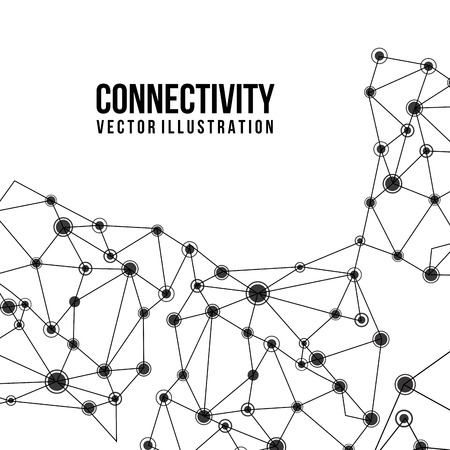 connectivity design over white  background vector illustration  Çizim