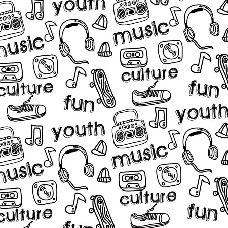 youth culture: youth culture design over white background vector illustration   Illustration