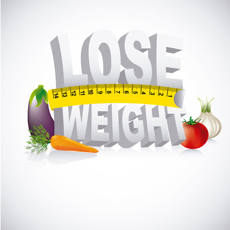 losing control: lose weight design over gray background vector illustration