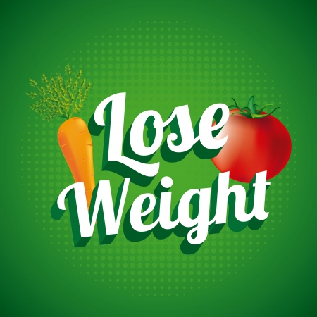 lose weight over green background  vector illustration