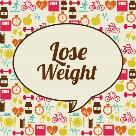 lose weight over pink background  vector illustration Reklamní fotografie - 22196863