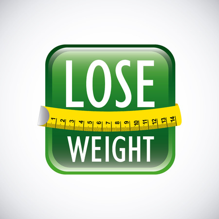 over weight: lose weight over gray background  vector illustration Illustration