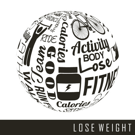 lose weight over white background  vector illustration Stock Vector - 22196872