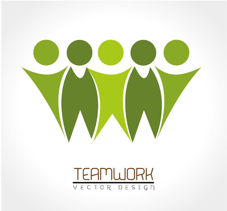 teamwork design over white background vector illustration Illusztráció